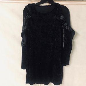 Black Velvet Dress Size S
